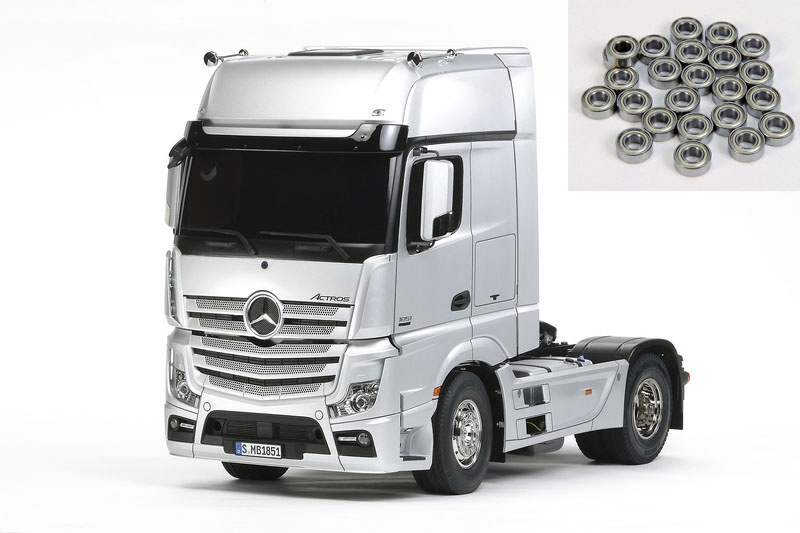 Mercedes Benz Actros 1851 GigaSpace 1:14 + ball bearings