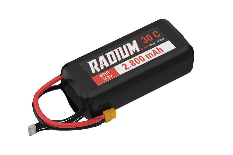 RADIUM LiPo Akku 4s1p 14,8V 2.800mAh 30C mit XT60