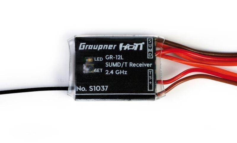 Empfänger GR-12 L HoTT, 8 Kanal SUMD +T