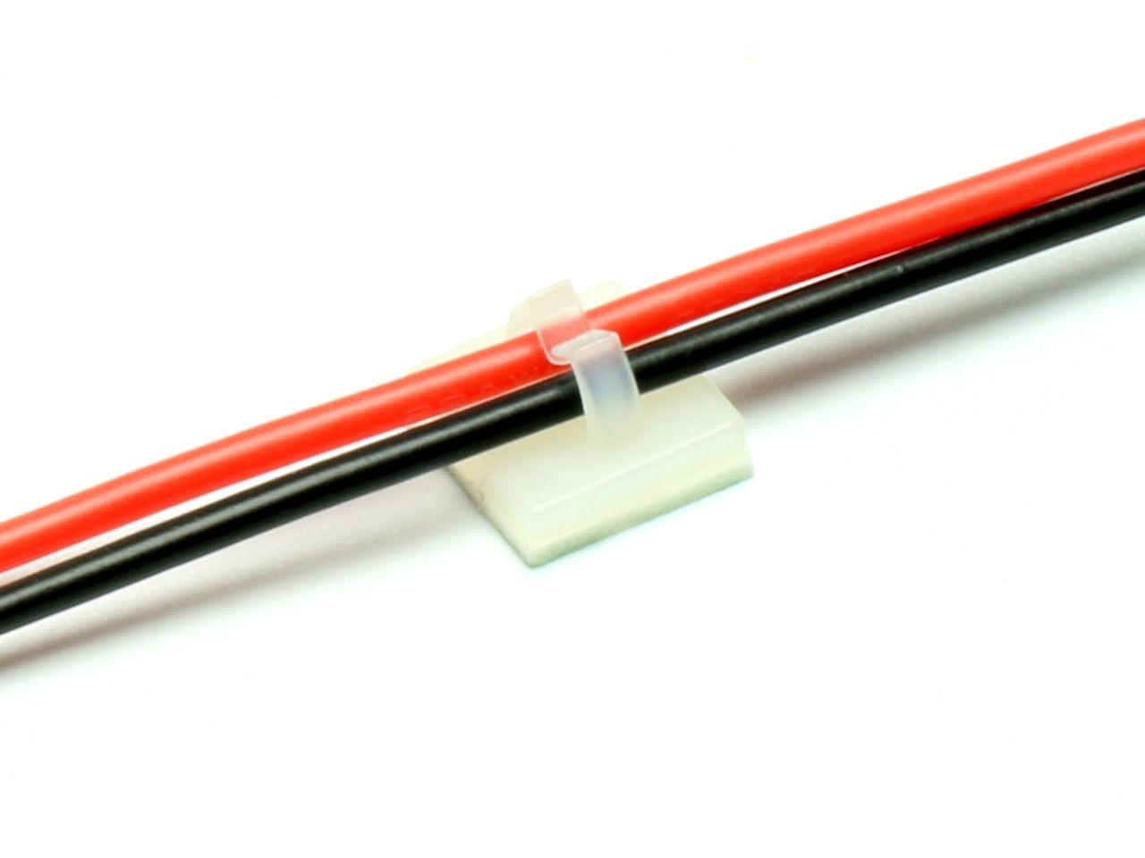 Mini Kabelhalter selbstklebend 4mm (10)