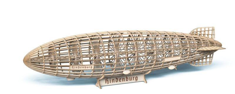 Holzbausatz Zeppelin Hindenburg 1:400