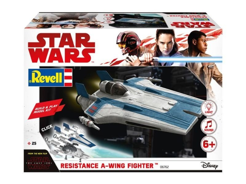 STAR WARS Resistance A-Wing Fighter, Blue - Build and Play
