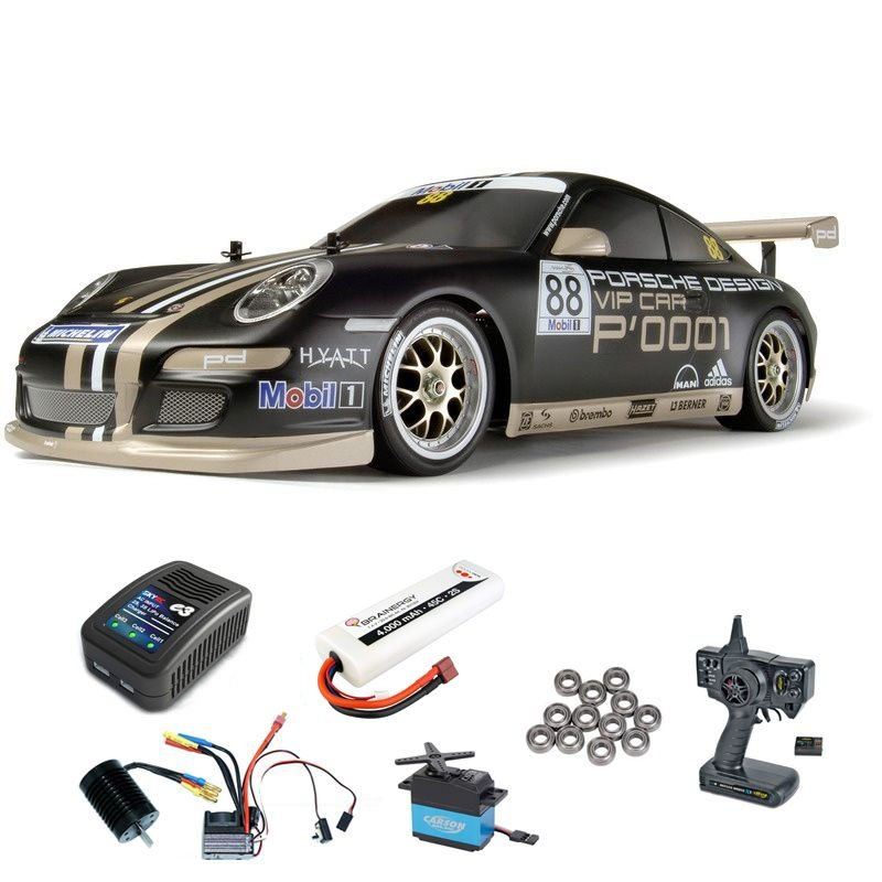 Porsche 911 GT3 CUP07 TT-01E Brushless-Edition Komplettset