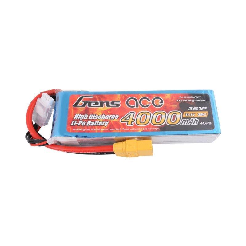 LiPo Akku 4000mAh 3S1P 11,1V 25C mit XT-90 Stecker