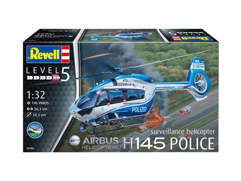 Airbus H145 Police Suveillance Helicopter Bausatz 1/32