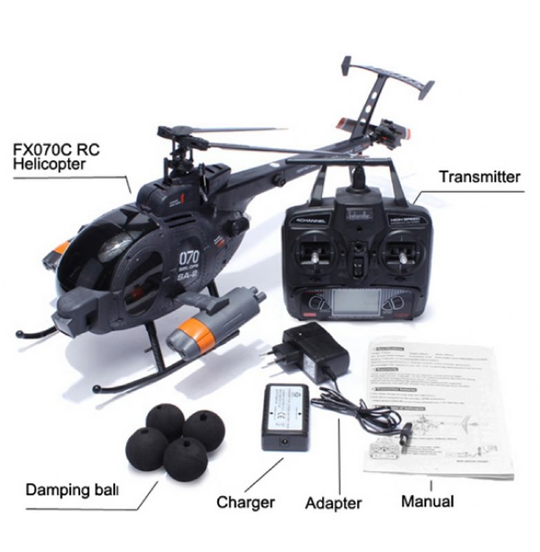 Scale Helikopter im Huges 500 Look 2,4GHz RTF