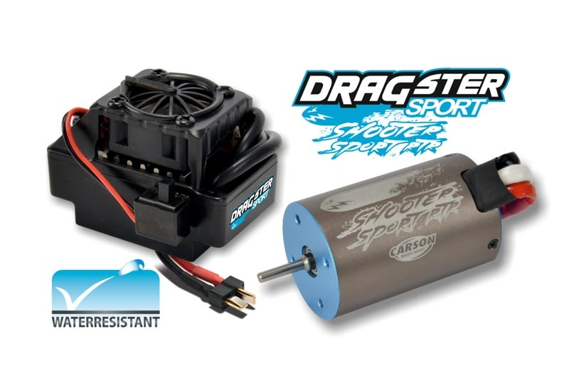 Brushless Set 8T Waterproof 1:10 bis 500W Lipo/NiMH