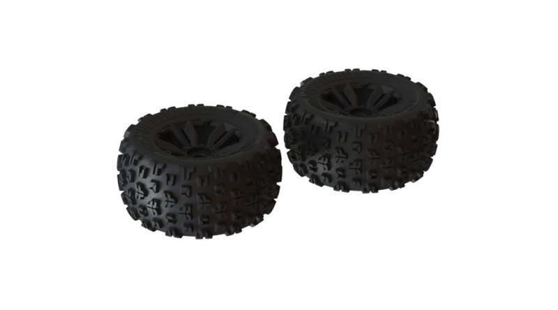 dBoots Copperhead2 MT Räder, schwarz, 1:8, Kraton, 2 Stück
