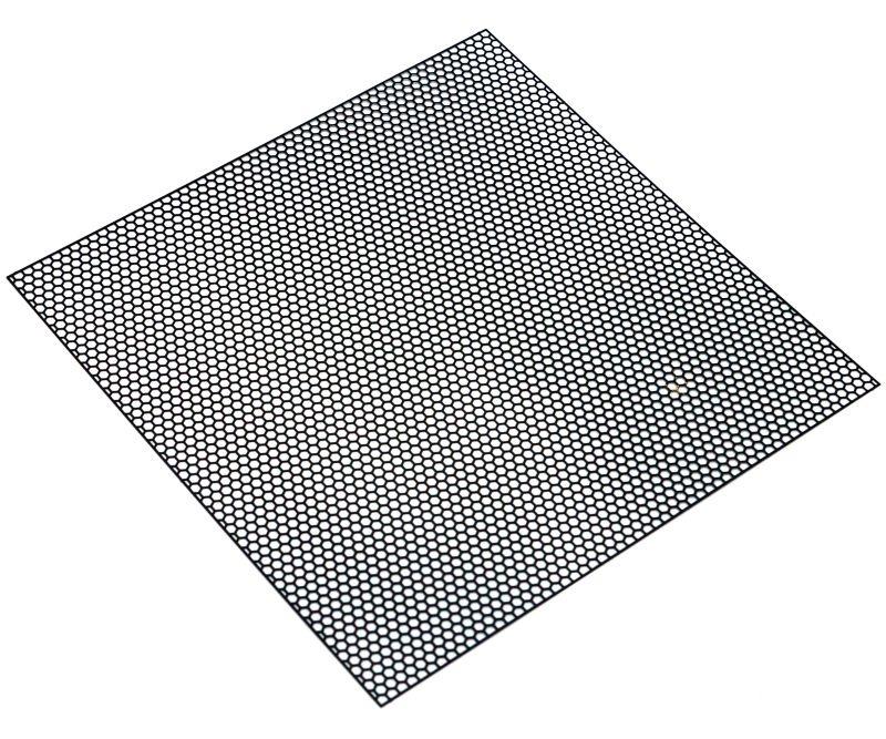 Edelstahl Gitternetz aus 100x100mm, Typ Hexagon schwarz
