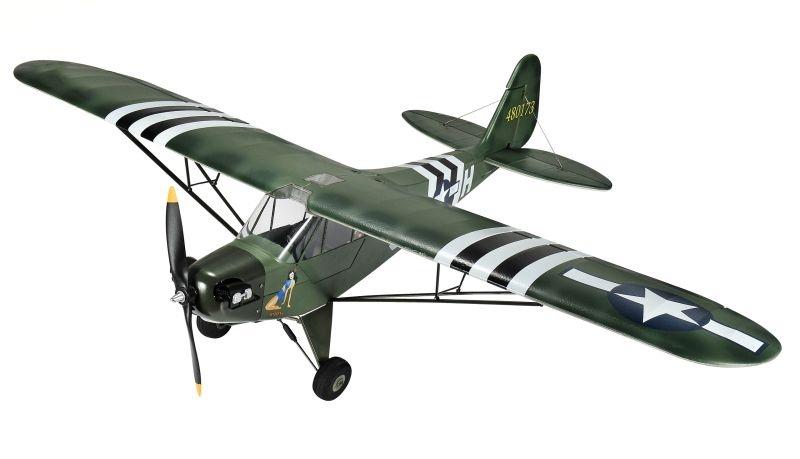 Piper J3 1400mm Warbird Brushless PNP Military grün