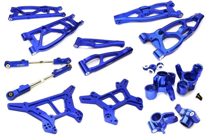 CNC Aluminium Conversion Kit für 1/8 Kraton 6S BLX, blau