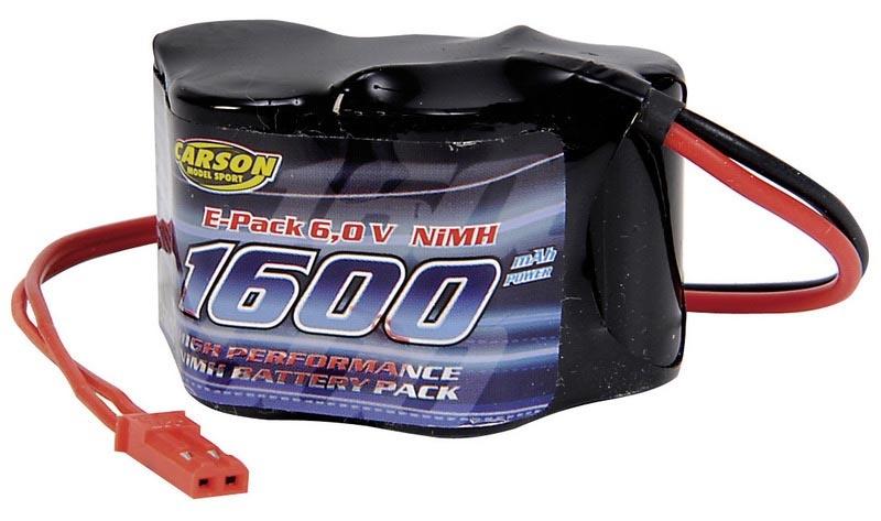 Akku Pack Empfänger 6V/1600 mAh NiMH