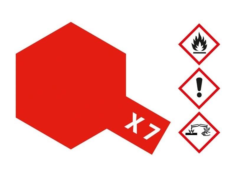 X-7 Rot glänzend 23 ml Acrylfarbe