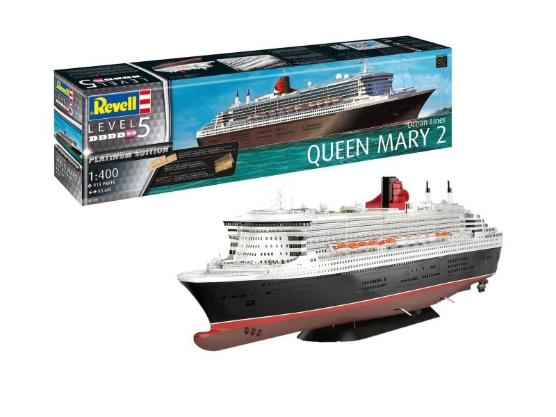 Queen Mary 2 1:400 Kreuzfahrtschiff Platinium Edition Kit