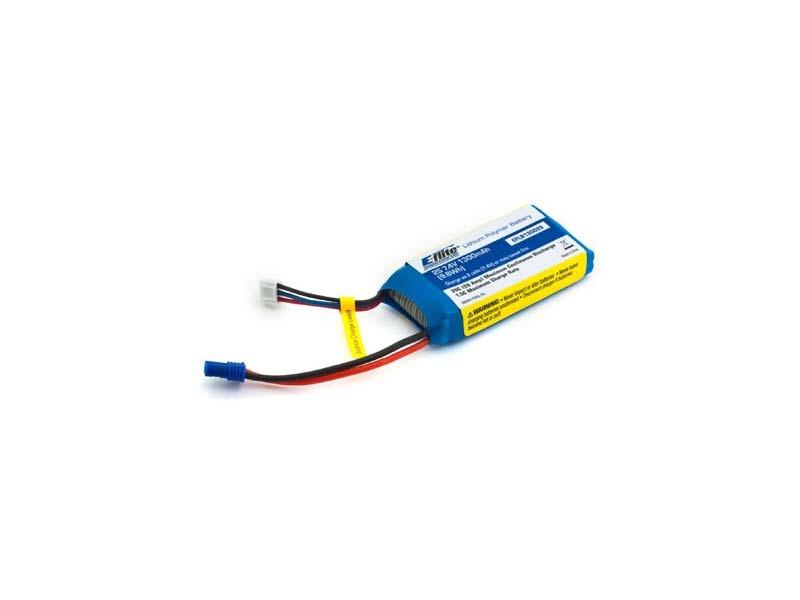 E-flite 2S 7,4V 1300mAh 20C LiPo-Akku m. EC2-Stecker