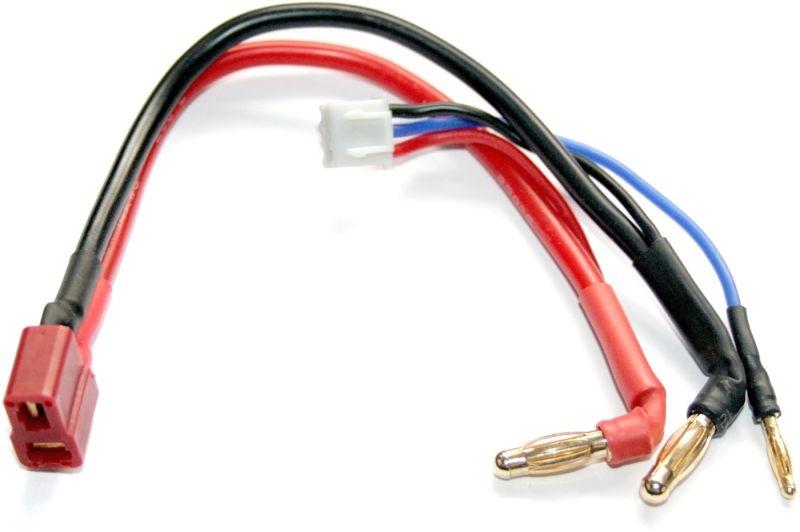 Adapterkabel - 4mm Gold Stecker zu Deans + Balancer XH