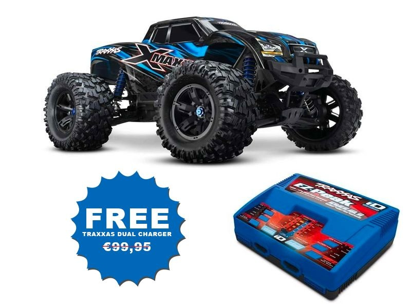 X-Maxx RTR Brushless 6S Truck +TSM + EZ-Peak Plus Duo Lader