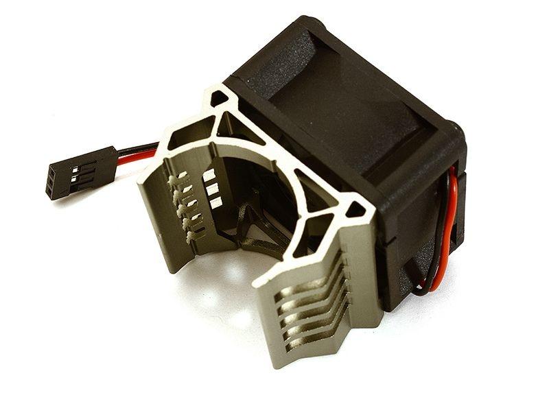 Alu Kühlkörper grau mit Lüfter für Brushless Motor Slash VXL