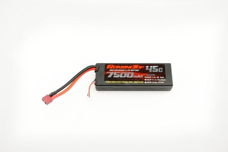 LiPo Akku Hardcase 7,4V 2S 7500mAh 45C mit T-Stecker