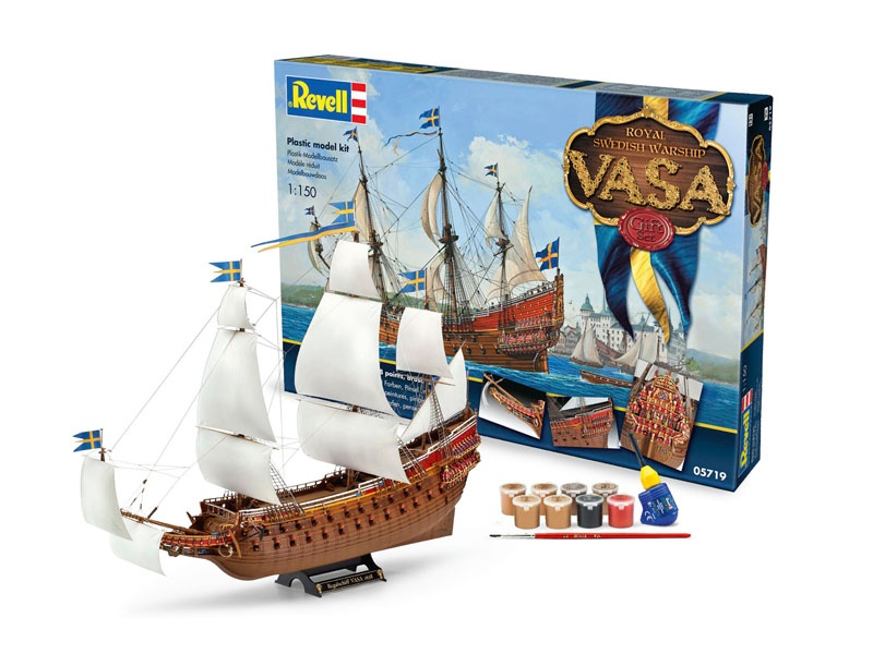 Geschenk-Set Royal Swedish Warship VASA 1:150
