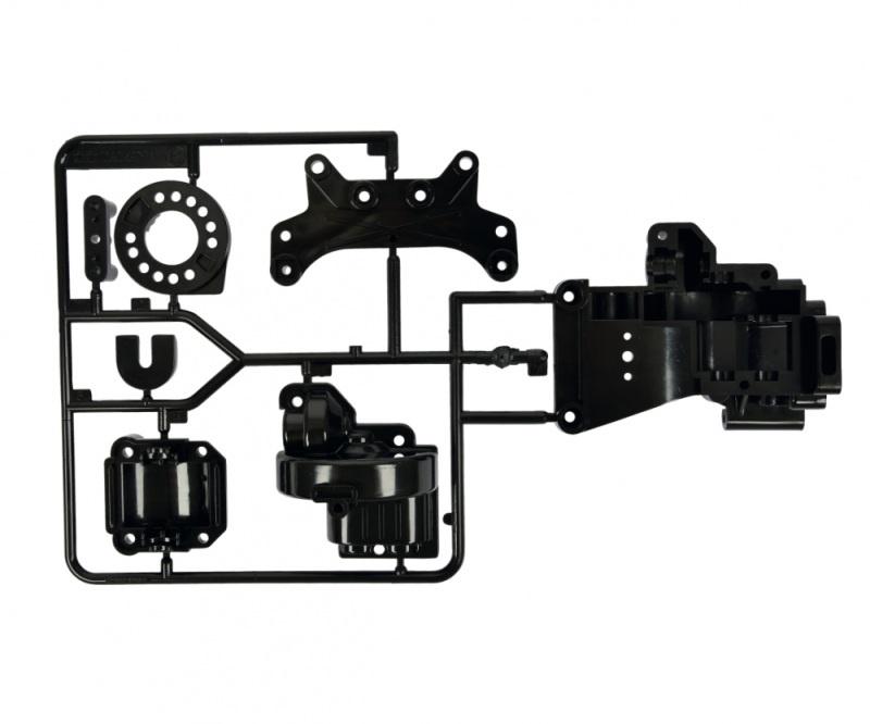 TA-01/02 B-Teile Getriebe-Gehäuse hinten schwarz