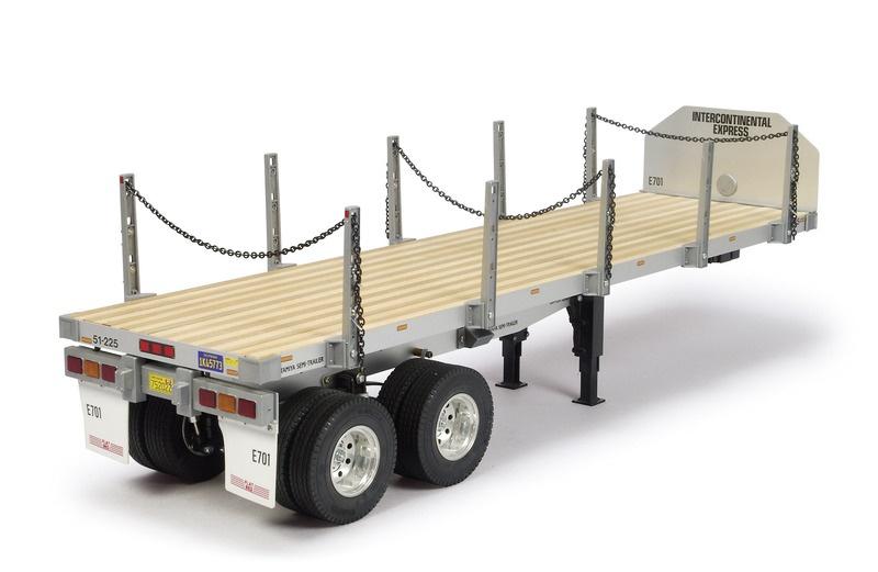 Flachbettauflieger für 1:14 Truck Bausatz