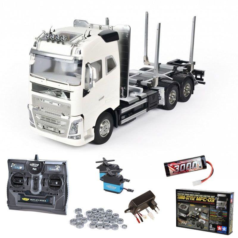 Volvo FH16 Globetrotter 750 Timber Truck 1:14 Set mit MFC-03