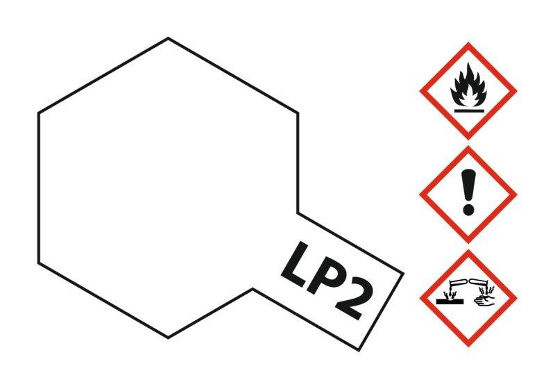 LP-2 Weiss glänzend Kunstharzfarbe 10ml