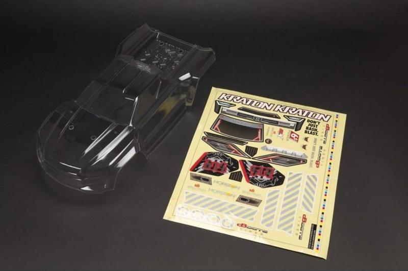 Kraton 6S BLX Karosserie unlackiert mit Aufklebern