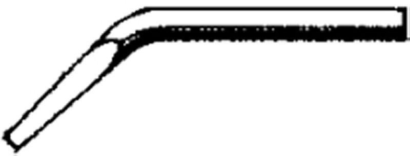 Lötspitze 7 mm, Nickel, Meißelform, innenbeheizt, gewinkelt