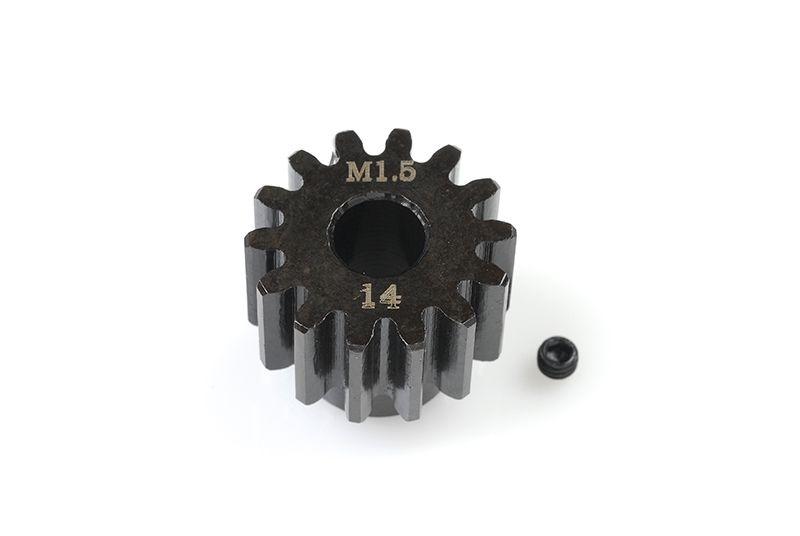 Stahl Motorritzel 14 Zähne Modul 1.5 für Großmodelle 8mm