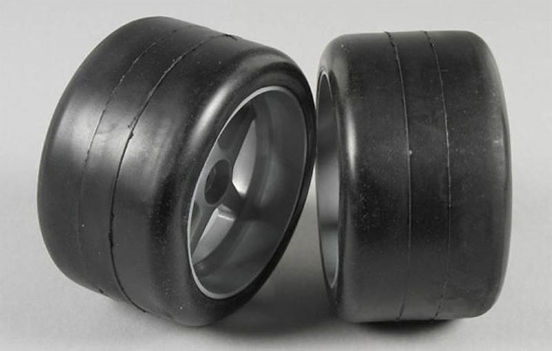 Slick-Räder S1 80mm 1:6, fertig verklebt 18mm Vierkannt