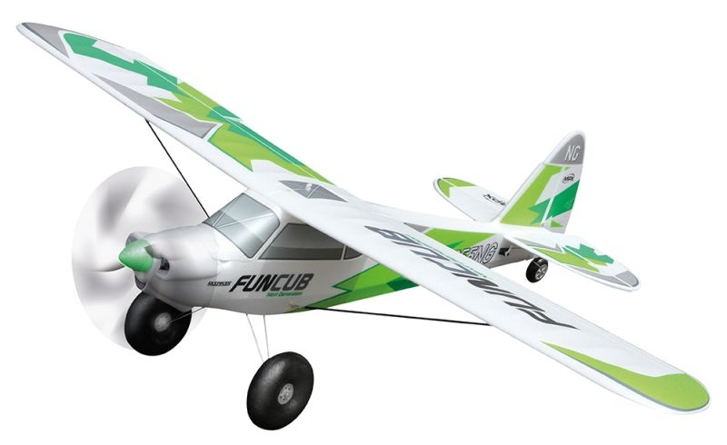 RR FunCub NG grün 1410mm - RR mit Servos, Antrieb
