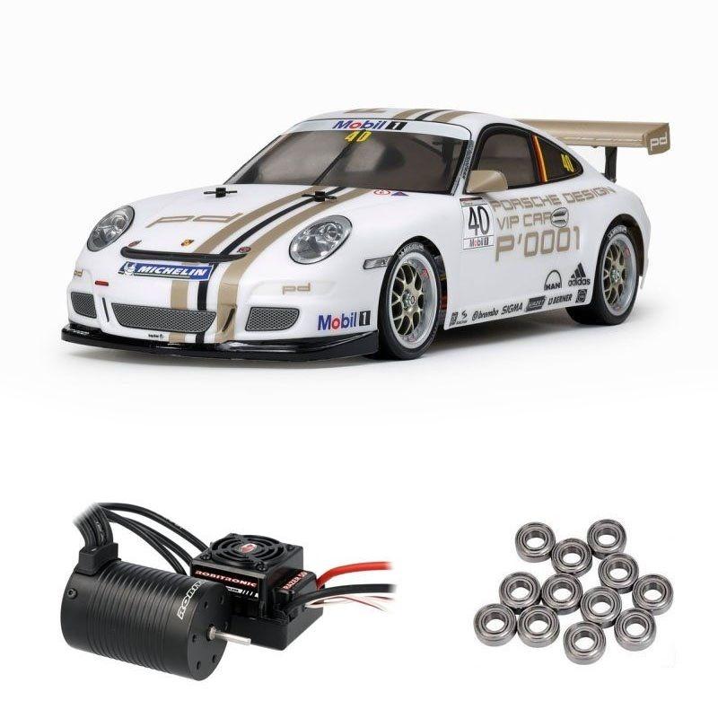 Porsche 911 GT3 Cup VIP 08 4WD 1/10 TT-01E Brushless + Lager