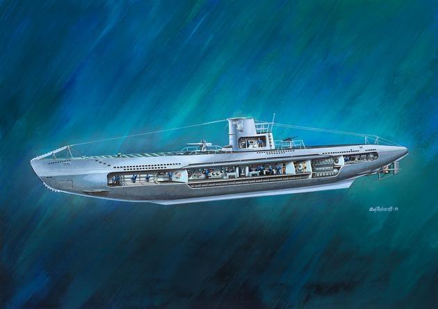 Deutsches U-Boot U-47 with Interior 1:125