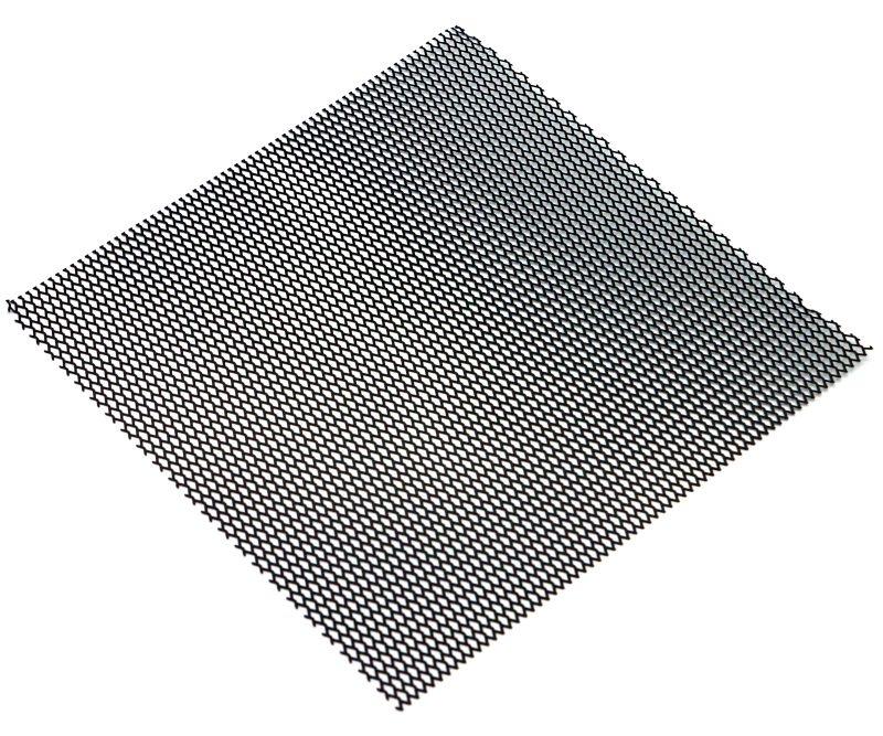 Edelstahl Gitternetz aus 100x100mm, Typ Wabe schwarz