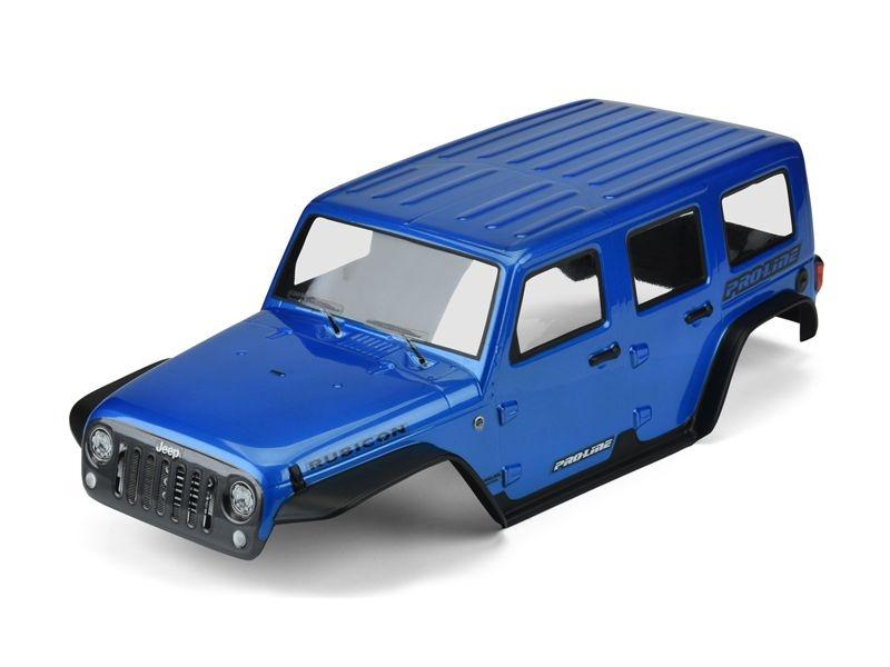 Jeep Wrangler Unlimited Rubicon blau lackiert für TRX-4