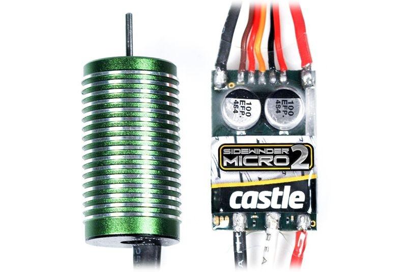 Sidewinder Micro 2 Brushless Combo für Fahrzeuge 1/18