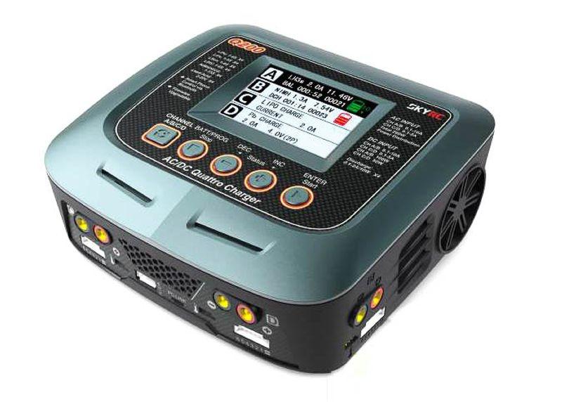 Ladegerät Q200 AC/DC 2x100W 2x50W LiPo 1-6S 10A