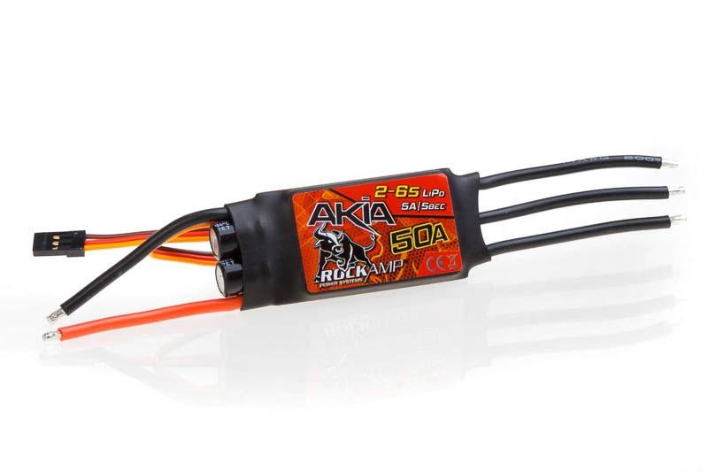 Rockamp Akia 50A / 2-6S Lipo / 5A SBEC
