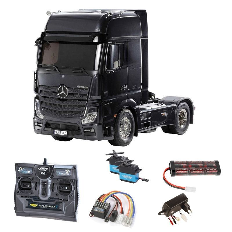 Mercedes Actros 1851 GigaSpace Black Edition 2,4GHz Komplett