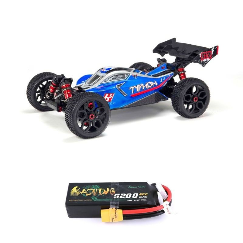 Typhon 6S BLX 4WD 1/8 Brushless Buggy RTR blau + 4S LiPo