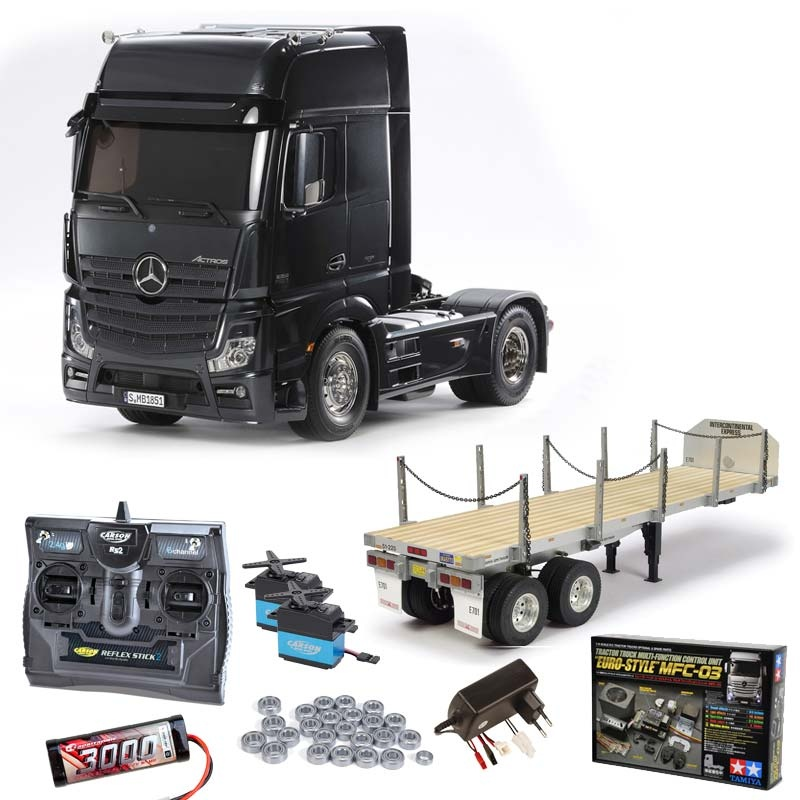 Mercedes Actros 1851 Black complete,MFC-03,flatbeat,bearings