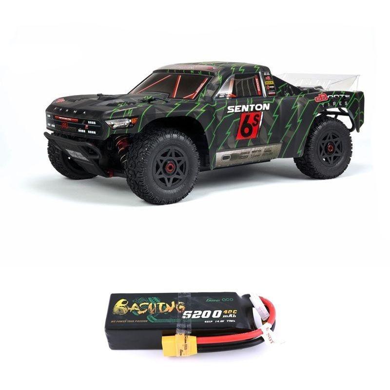 Senton 6S BLX 4WD 1/10 Short Course Truck RTR grün + 4S LiPo