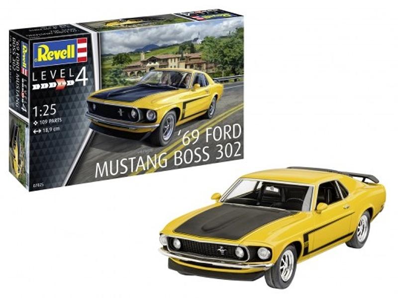 69 Ford Mustang Boss 302 1:25 Modellbausatz