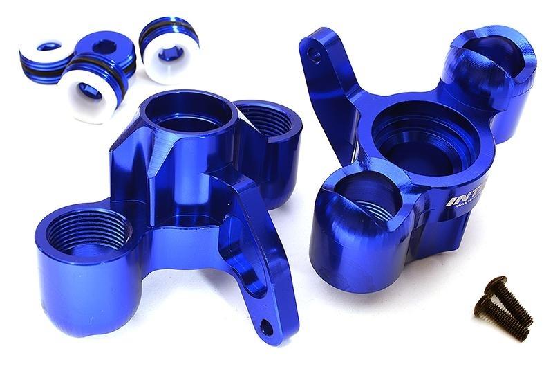 CNC Aluminium Achsschenkel blau für 1/8 Kraton 6S BLX