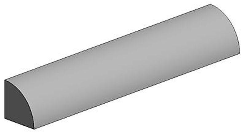 Viertelrundstange, 2,0 x 350 mm (3)