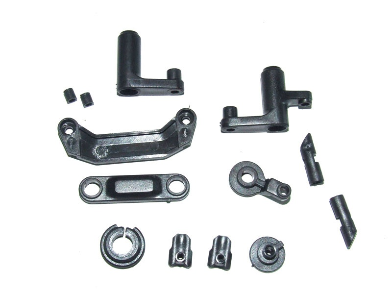Steering assembly + servo saver + battery door block/lock