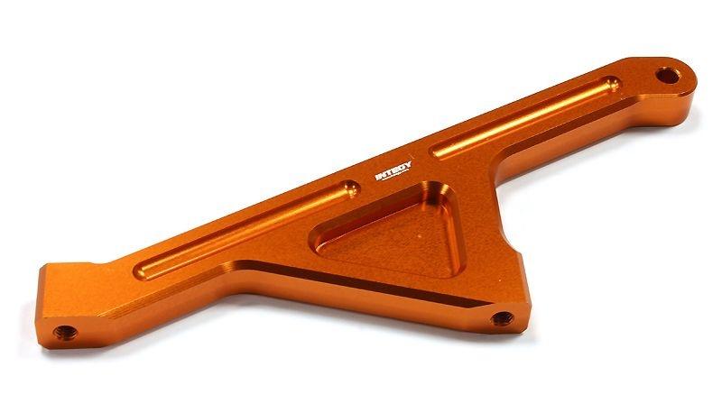 CNC Alu Chassis Strebe hinten orange für Losi 5ive-T