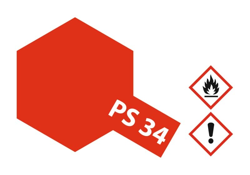 PS-34 Hellrot Polycarbonat 100ml